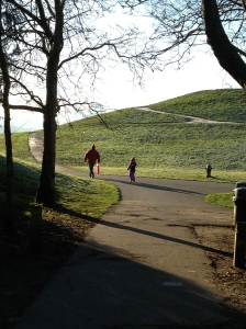 Sledding Seattle style: a hill, some frost, and no fear.