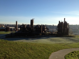 Gasworks Park. Famous for looking like a zombie movie set.