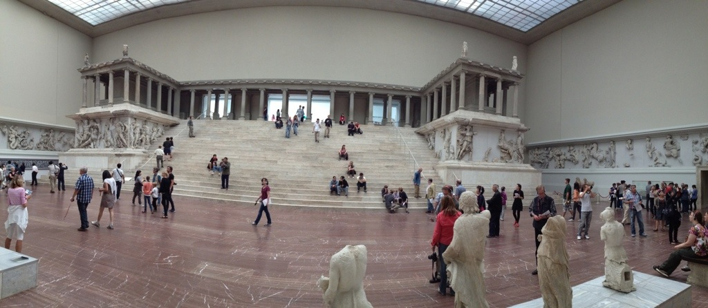 The Pergamon Altar. I found a secret room to the left and behind the stairs.