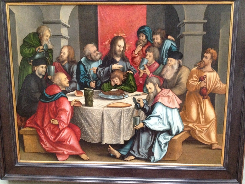 A note for historical accuracy: I do not recall weasel being served at the last supper (it certainly would make Communion messier these days), and I am pretty sure Judas did not bring his coins to the dinner.
