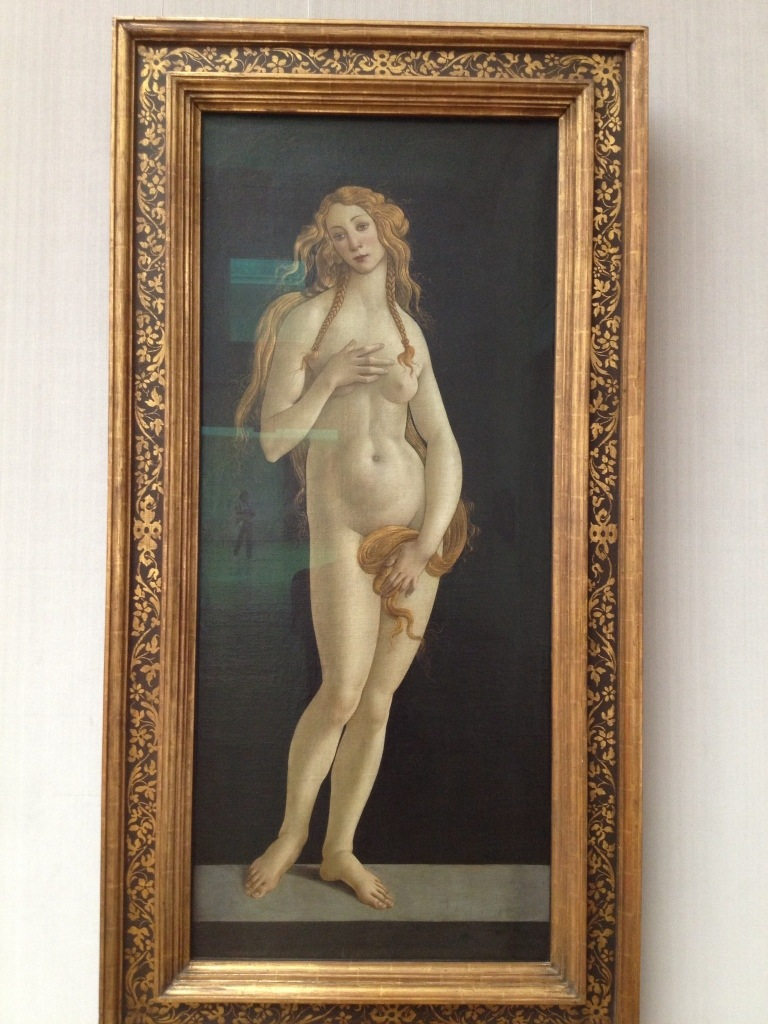 Venus without her shell, and without a few other things like clothing.