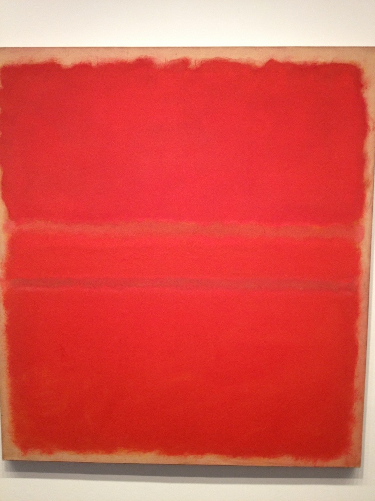 Mark Rothko...I call this one red and red.