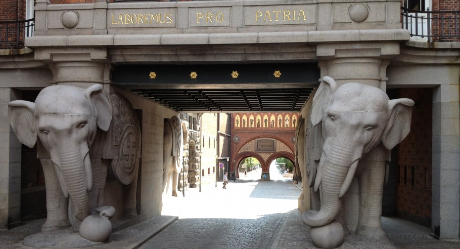 This is not the entrance to Heartland. The entrance is a secret. These are the Elephant gates in Copenhagen.