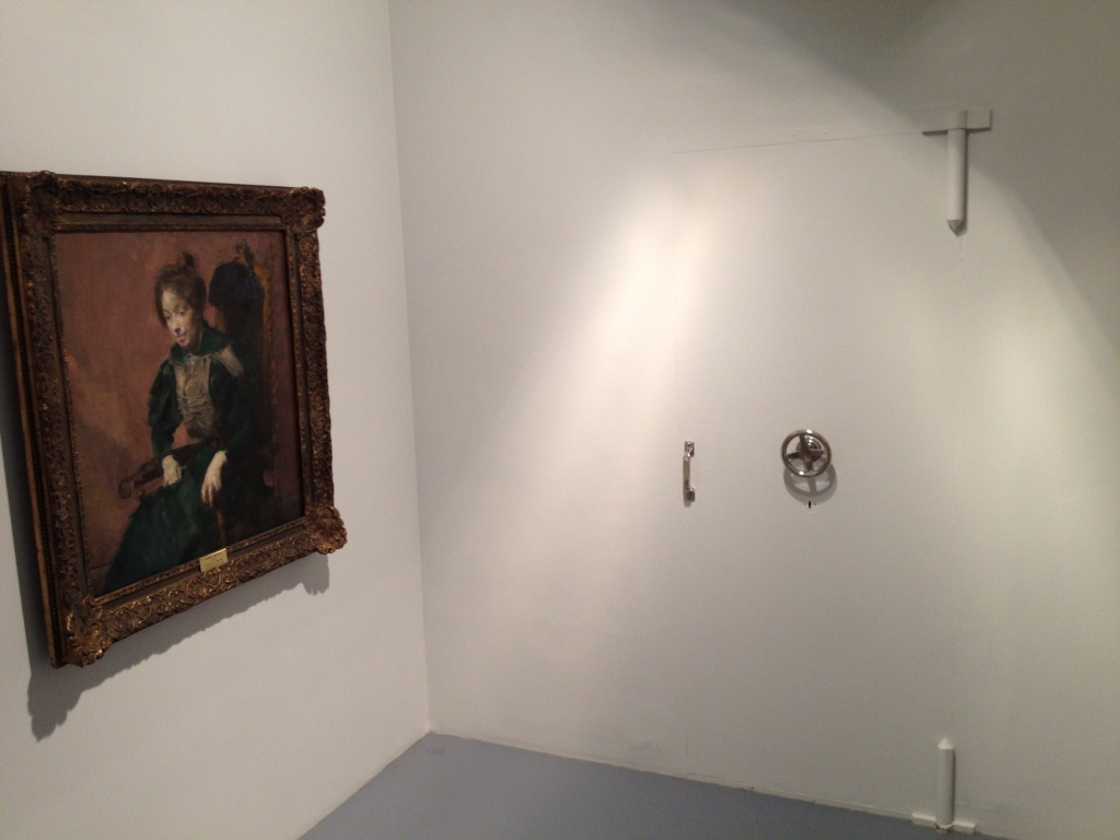 Looks like DuChamp visited this room.