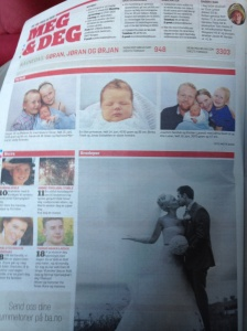 Page in the Bergen paper devoted to kids and families...I think.