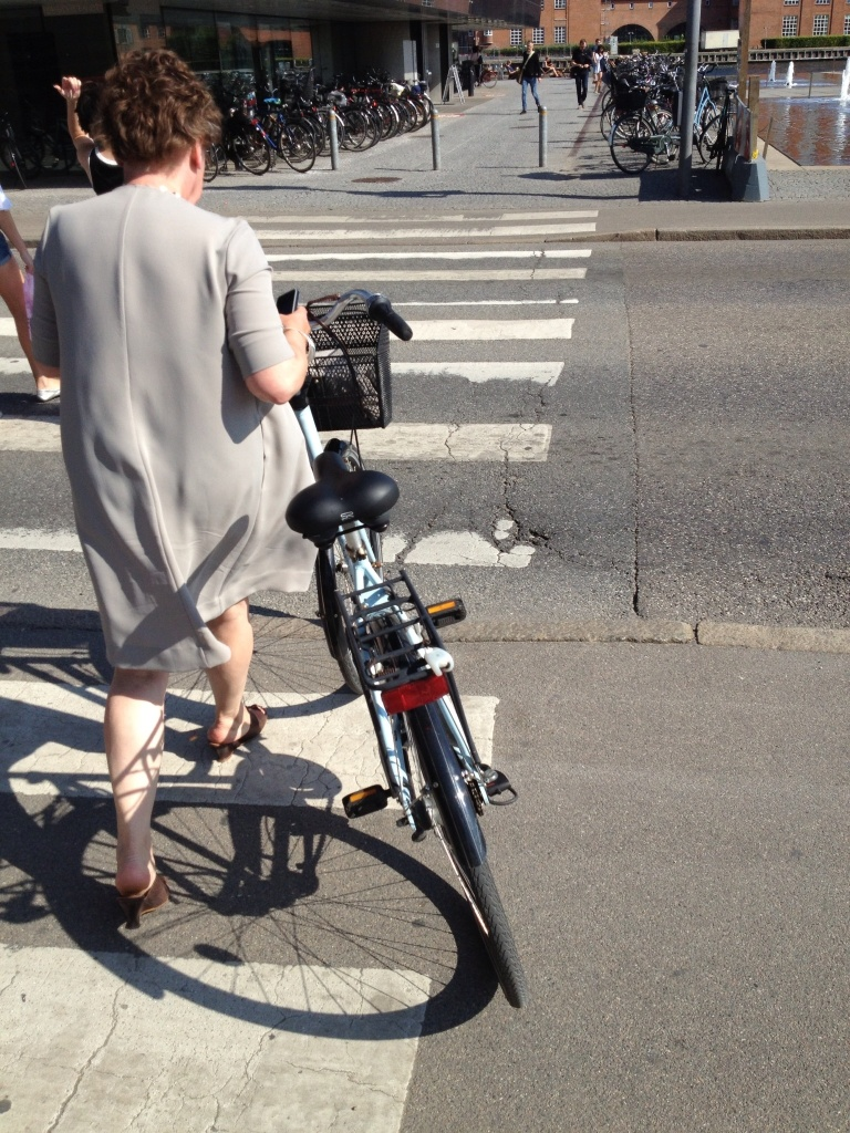 Typical bike commuter in CPH.