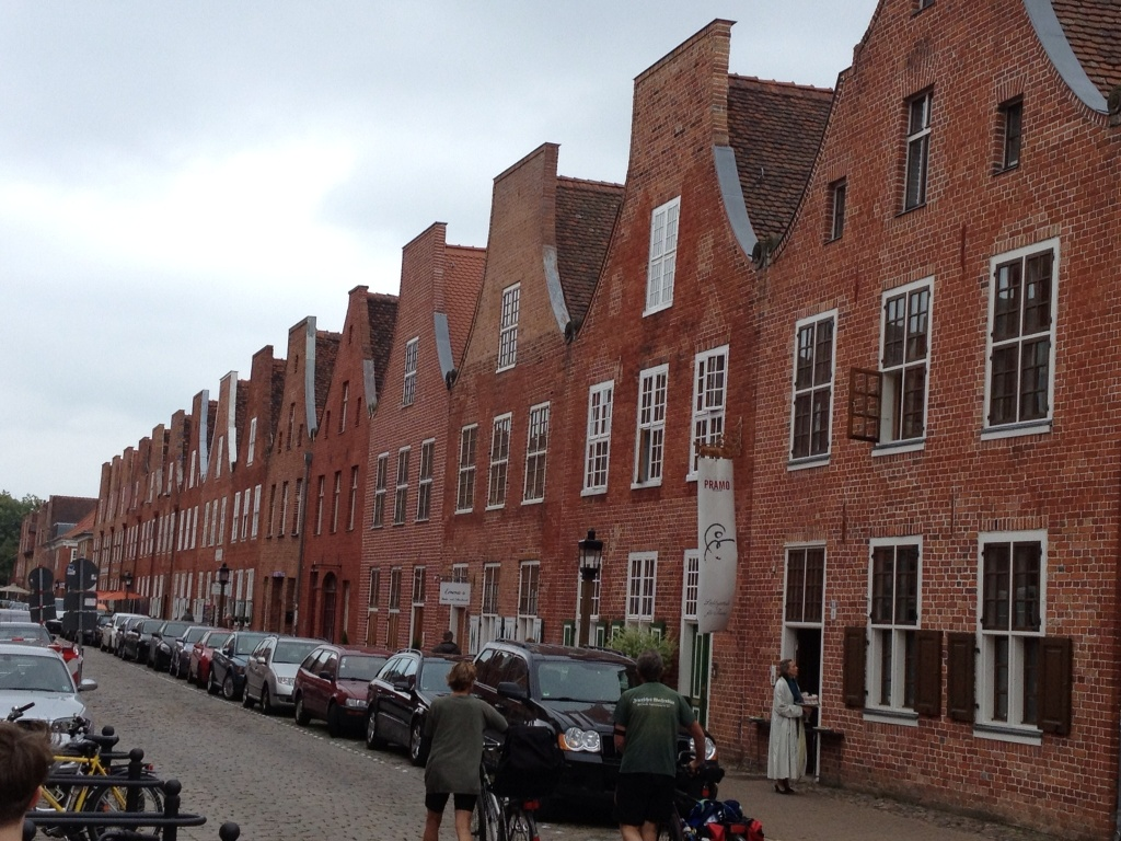They needed Dutch builders, so they built Dutch style houses to entice them to come to Potsdam.