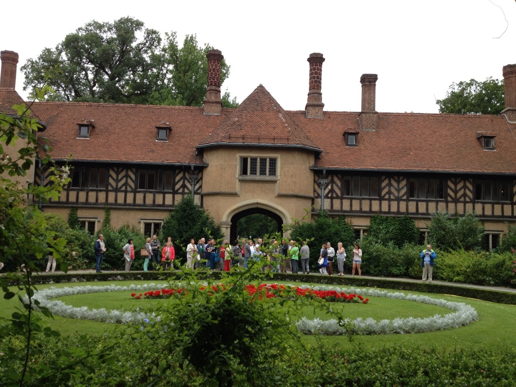 What do you do when you are at war with England (WWI)? Well, you build a really big English Tudor style mansion. Makes perfect sense in Potsdam.