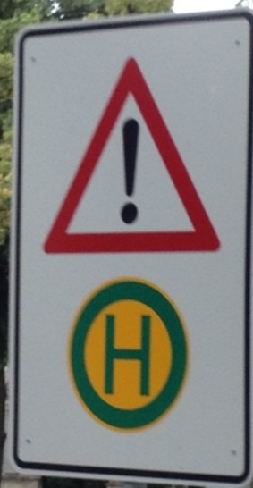 Warning! Germans making signs! Beware of exclamation points!