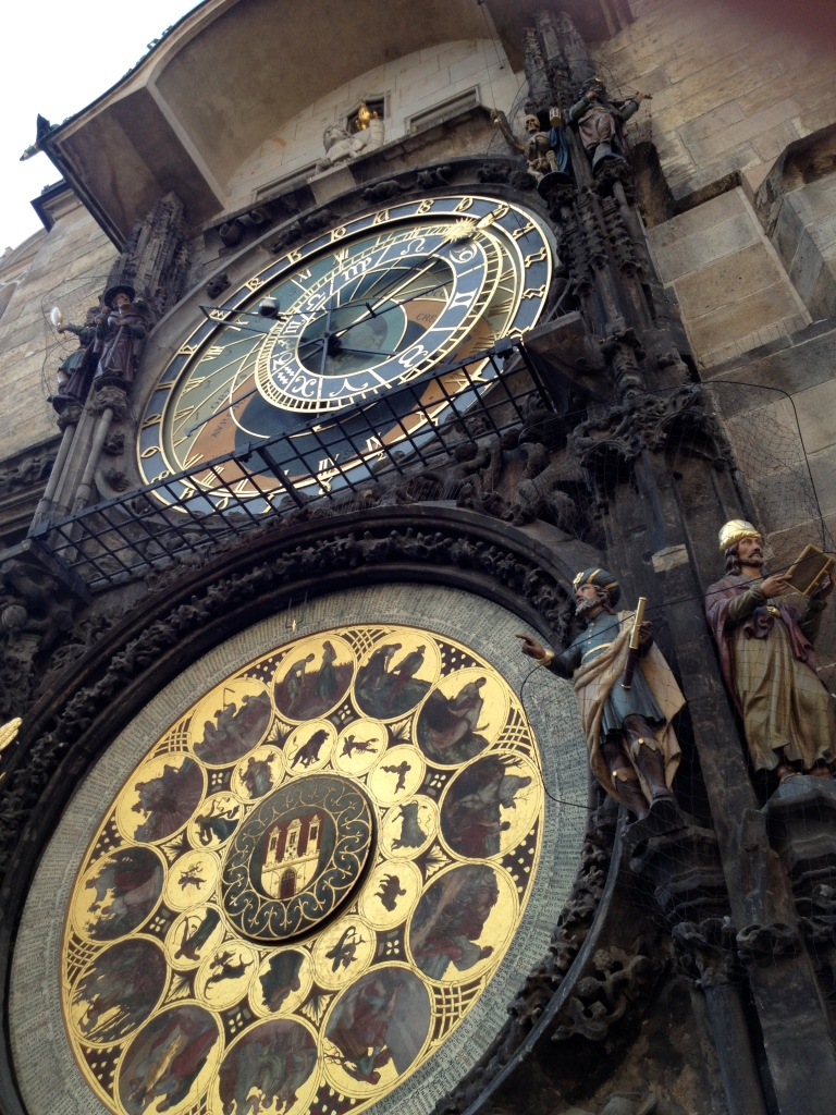 The Astrological Clock. The builder of the clock was blinded after construction was completed so he could not make another.