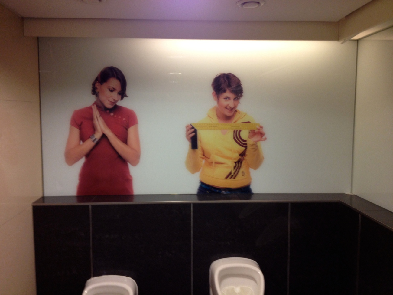 Typical of the Czech attitude toward life: the men's urinals in an expensive mall.