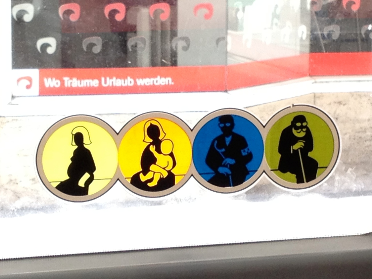 Seats for people with white arms, white babies, white gloves and glasses, and old Michael Jackson fans?