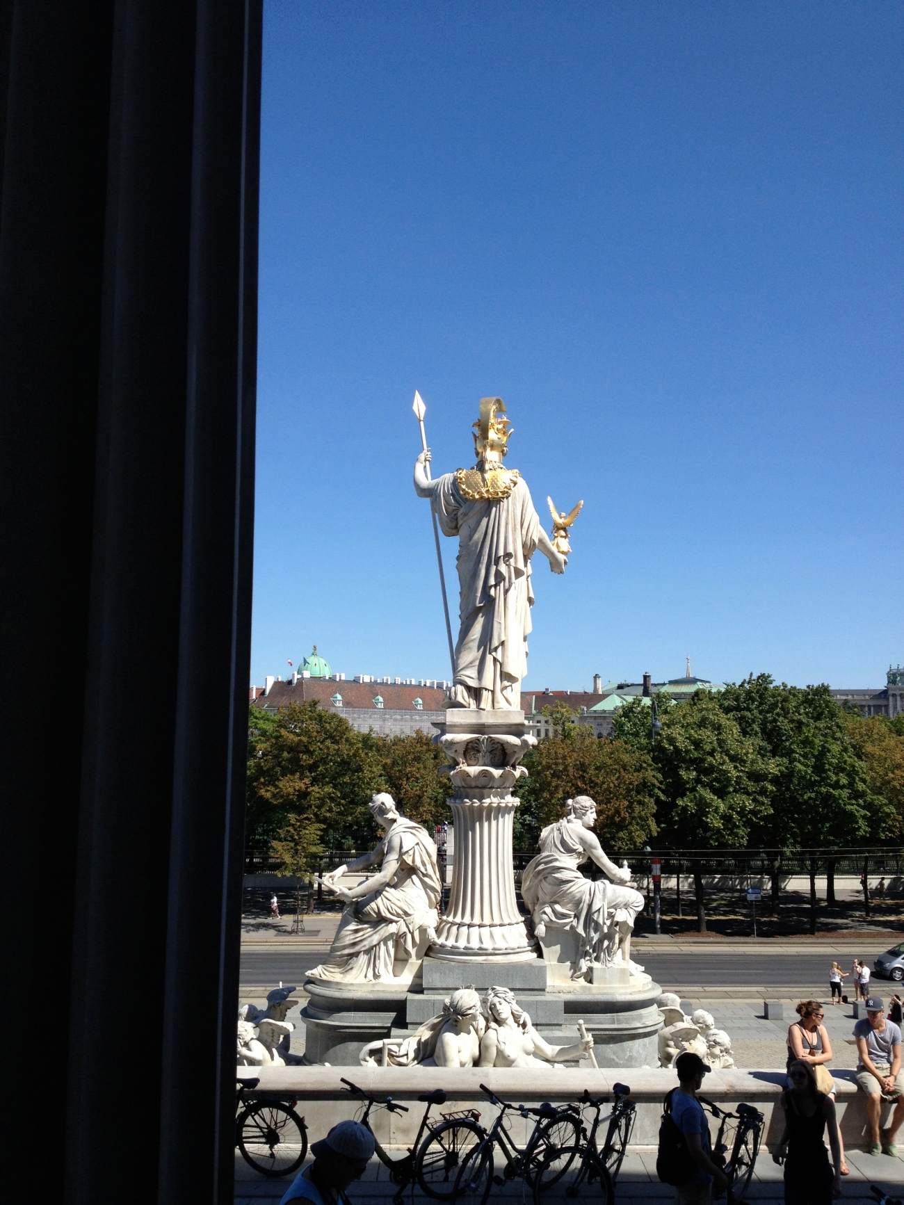 Athena agrees that Vienna is a great looking city.
