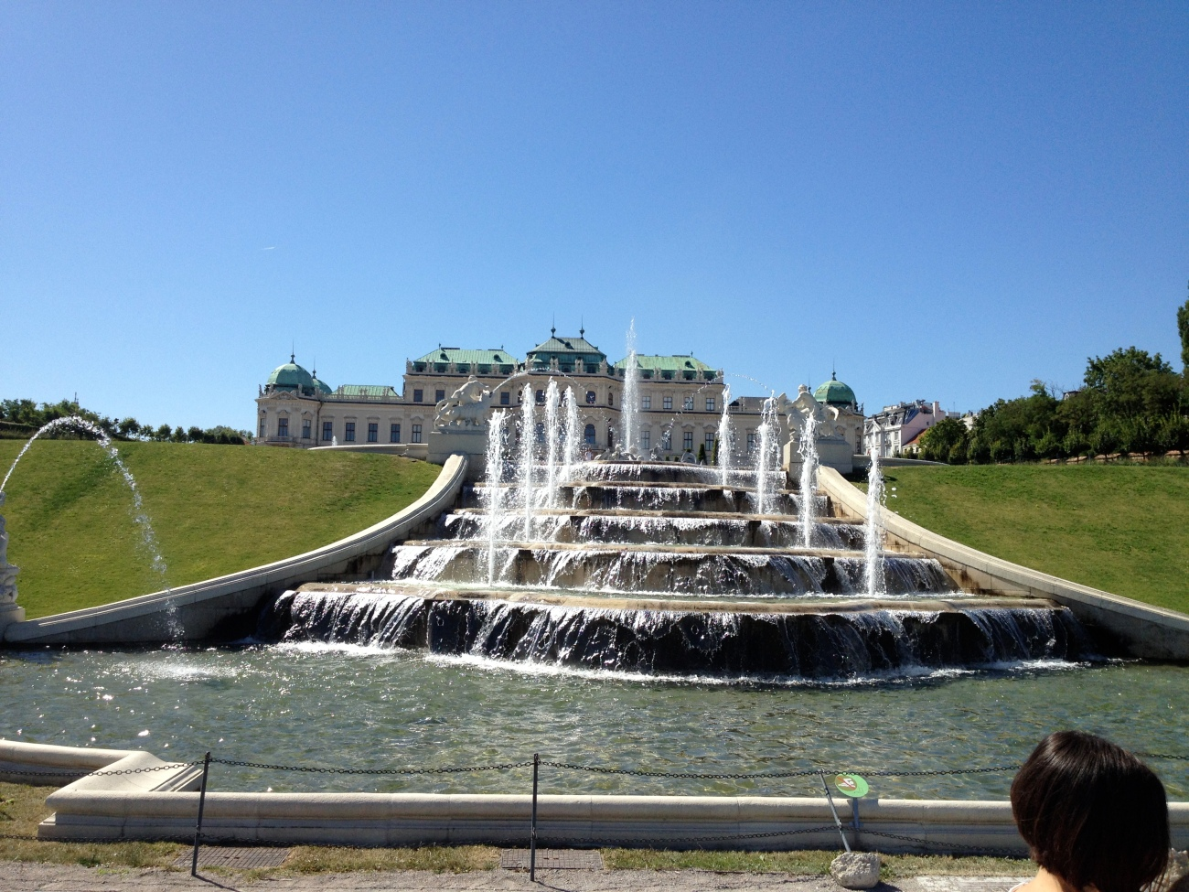 A few of the fountains at the Belvedere.
