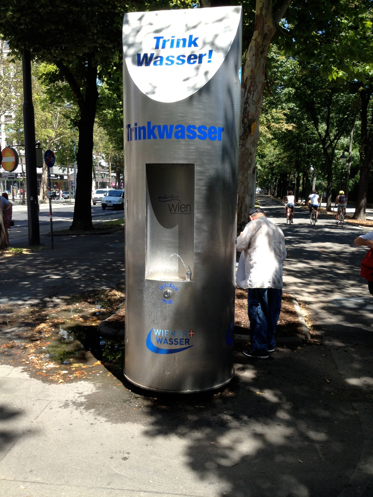 These water stations are sprinkled throughout the city to give access to Vienna's 5th best water in the world.