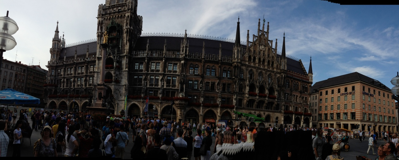 Marienplatz is Munich's city center.