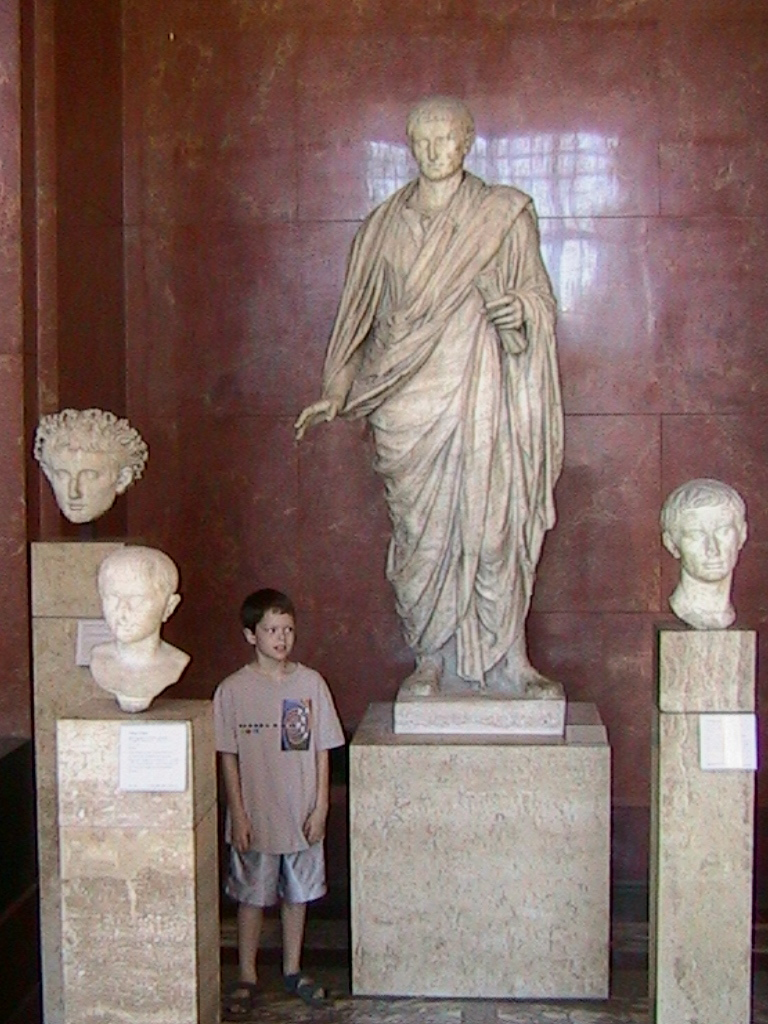 Dylan with some unknown Romans.